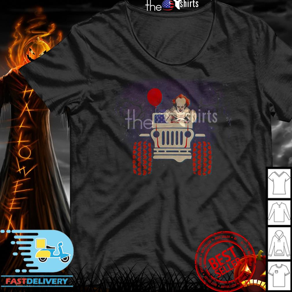 Pennywise riding Jeep Halloween shirt