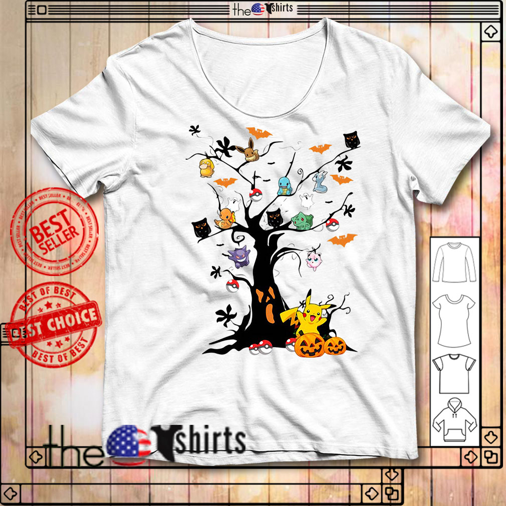 Pokemon Pikachu tree Halloween shirt