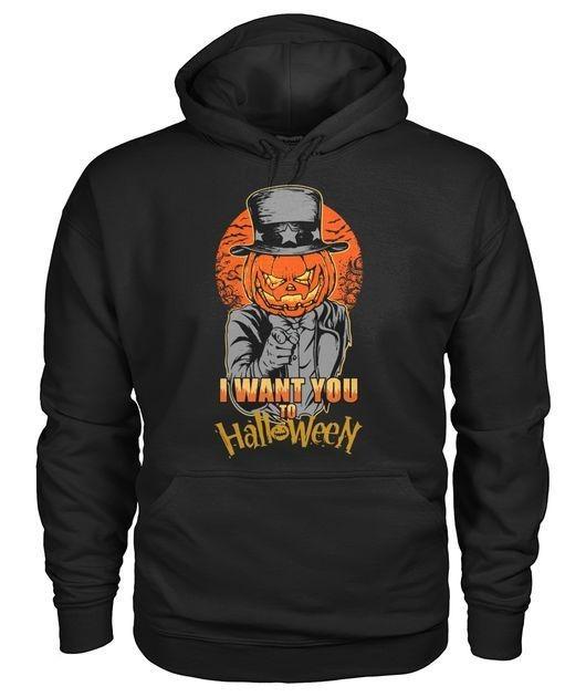 Pumpkin head I want you to Halloween Hoodie