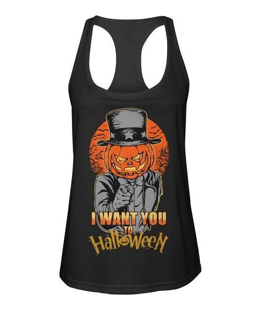 Pumpkin head I want you to Halloween Tank top