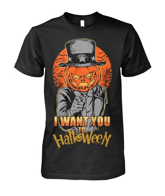 Pumpkin head I want you to Halloween shirt
