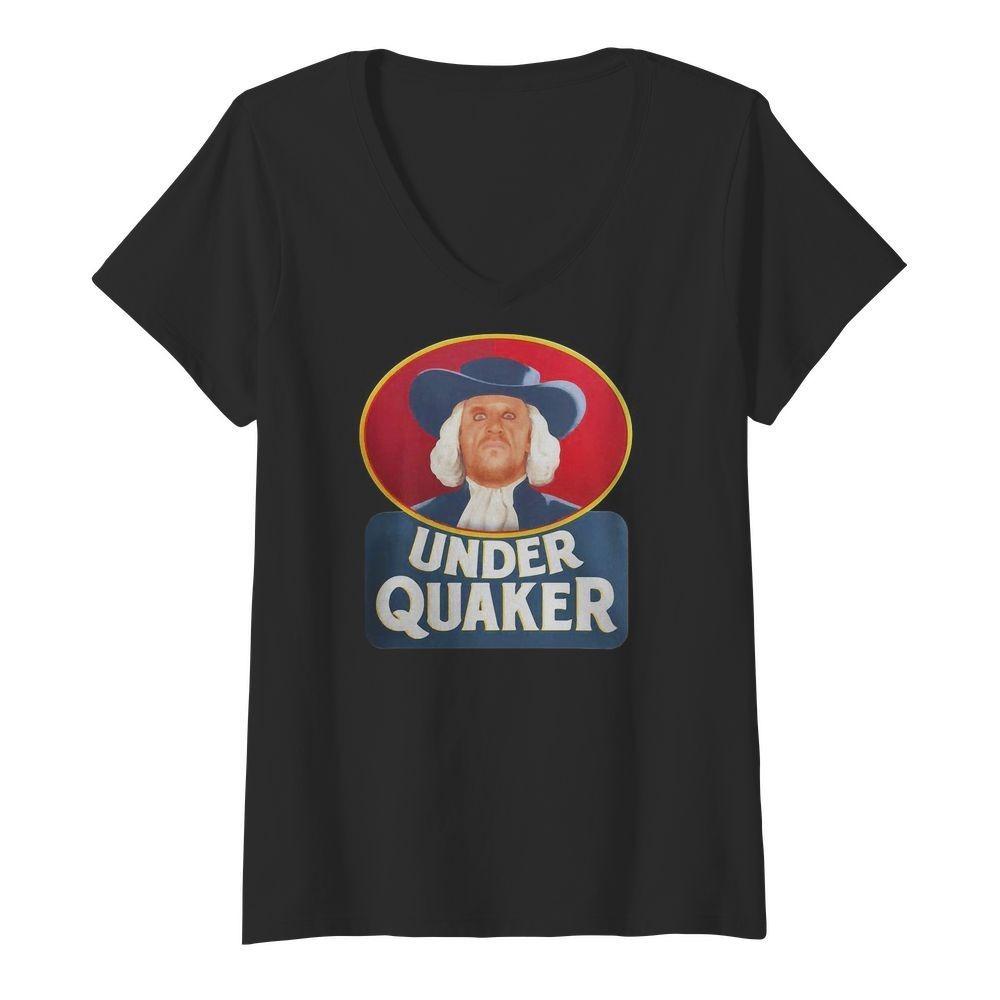 Quaker Oats Under Quaker V-neck T-shirt