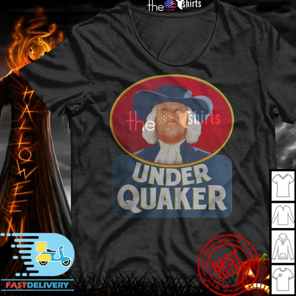 Quaker Oats Under Quaker shirt