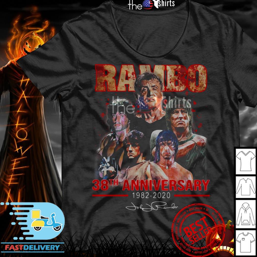 Rambo 38th Anniversary 1982-2020 signatures shirt