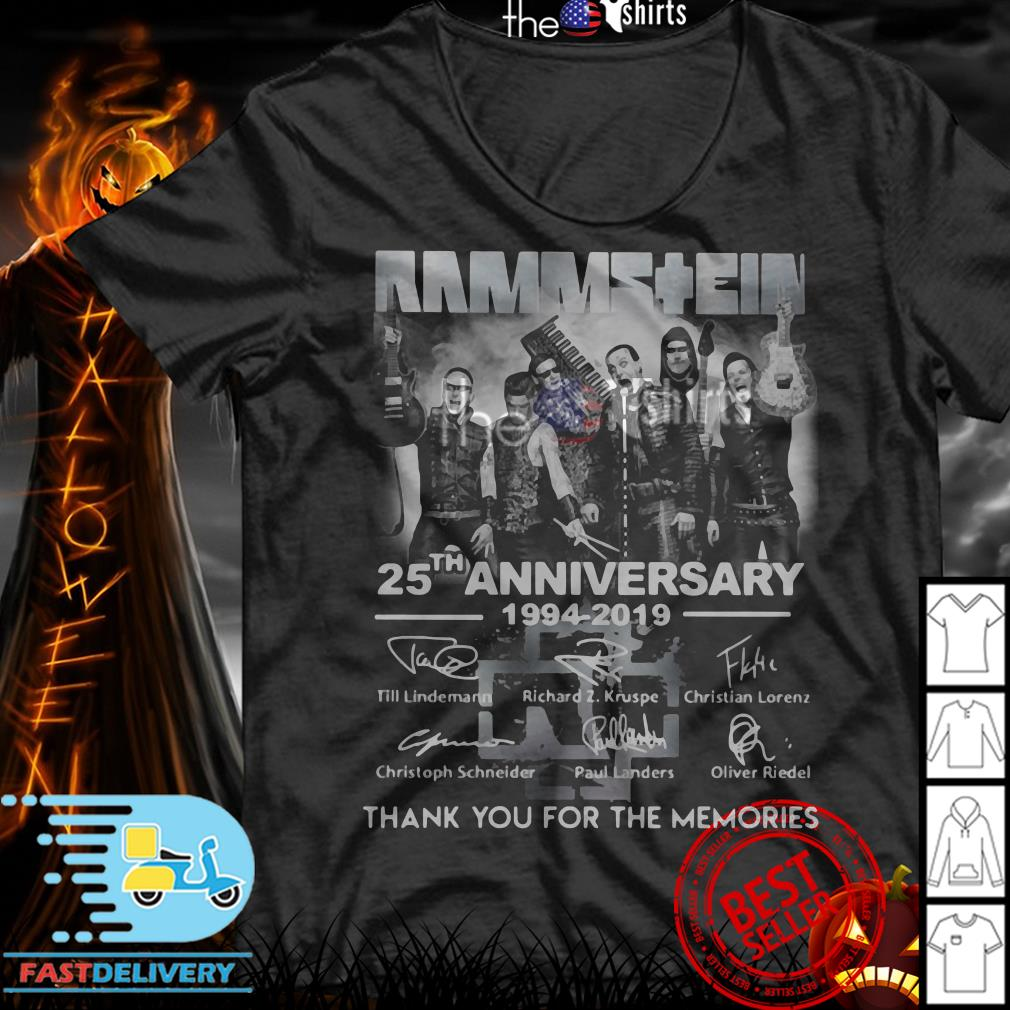 Rammstein 25th Anniversary 1994-2019 thank you for the memories signatures shirt
