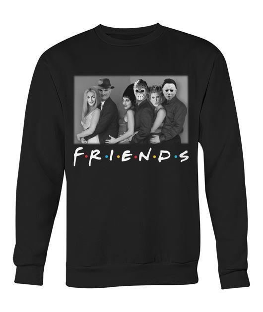 Sisters Sanderson and Myers Jason Voorhees and Freddy Mercury Friends TV Show Sweater
