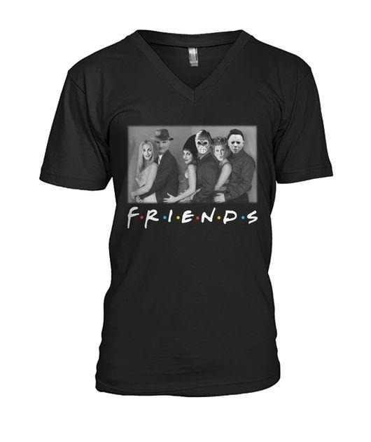Sisters Sanderson and Myers Jason Voorhees and Freddy Mercury Friends TV Show V-neck T-shirt