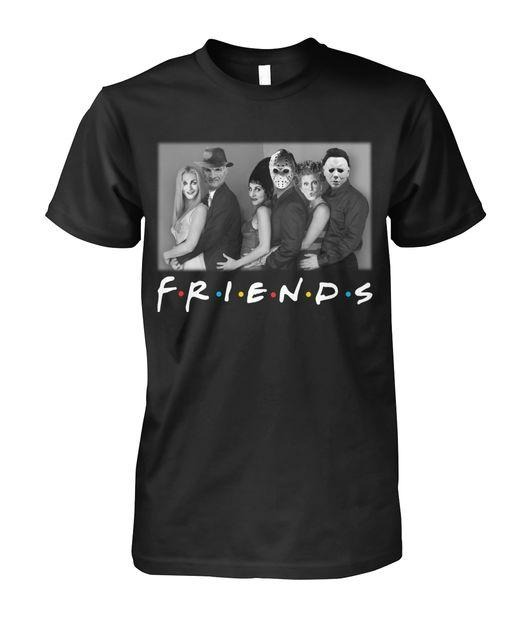 Sisters Sanderson and Myers Jason Voorhees and Freddy Mercury Friends TV Show shirt