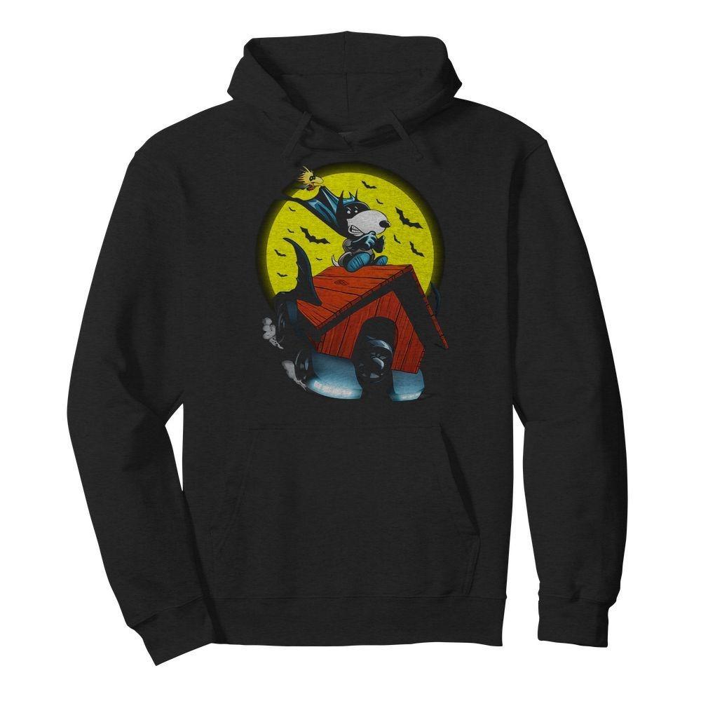 Snoopy and Woodstock Batman flying house Hoodie