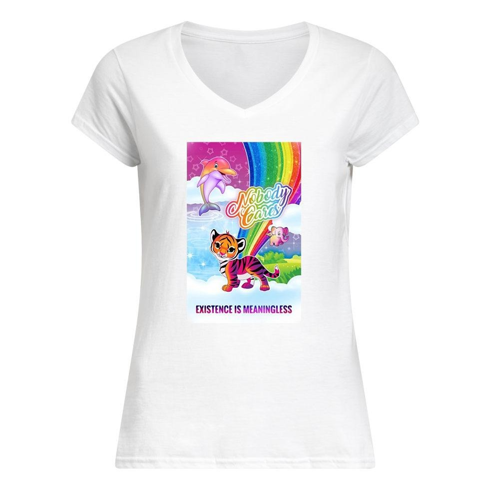 Tiger nobody cares existence meaningless V-neck T-shirt