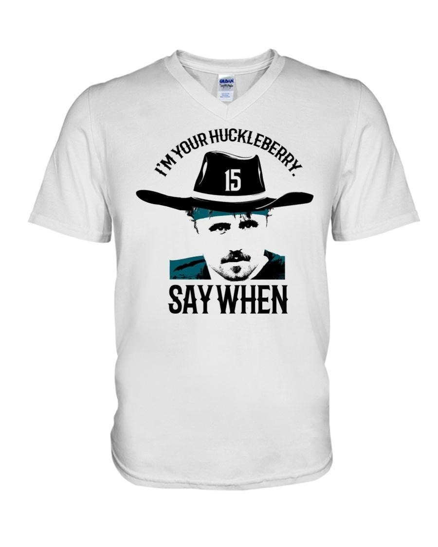 Tombstone I'm your Huckleberry say when V-neck T-shirt