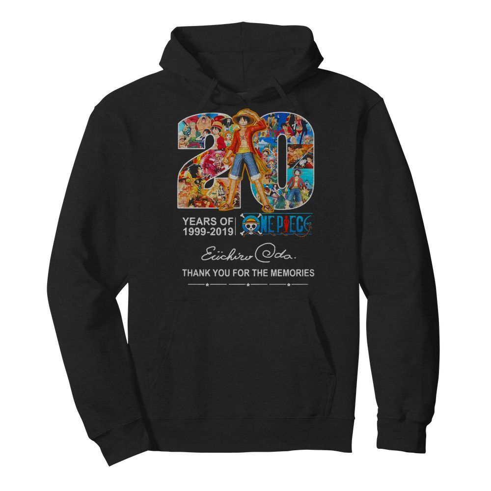 20 years of One Piece 1999-2019 thank you for the memories Hoodie