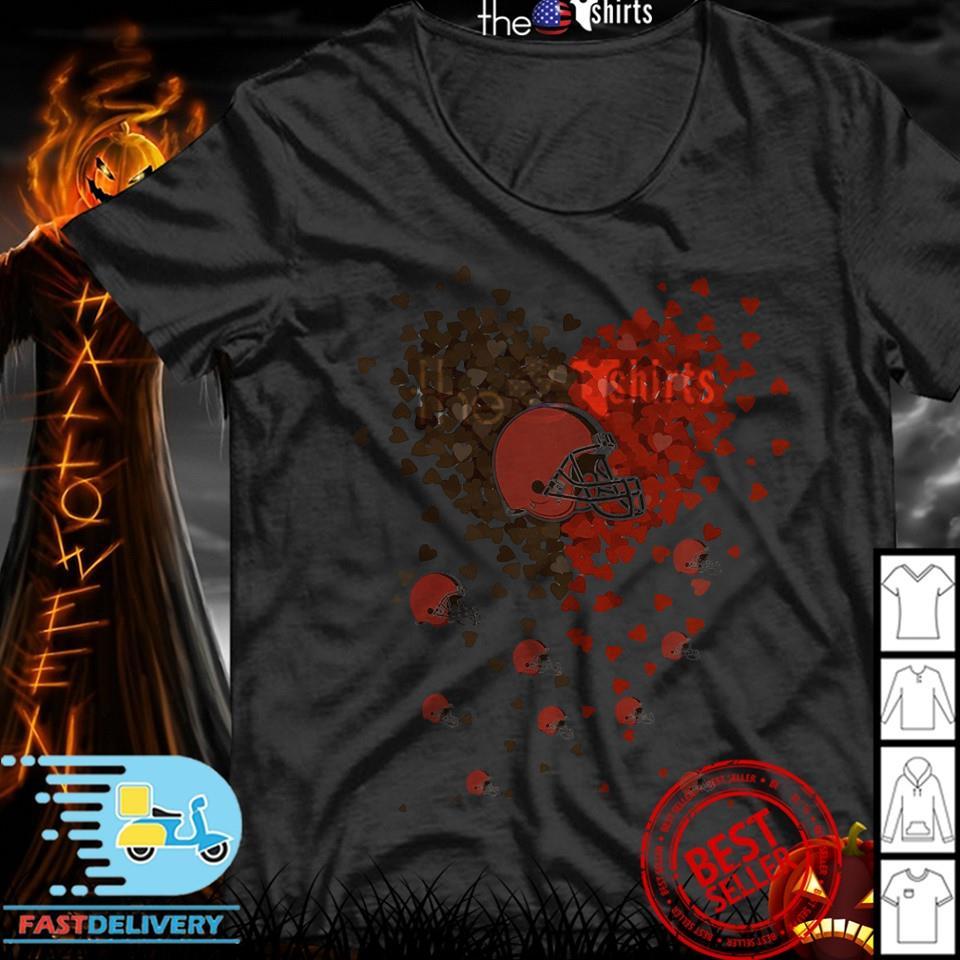 Heart Love Cleveland Browns my heart shirt