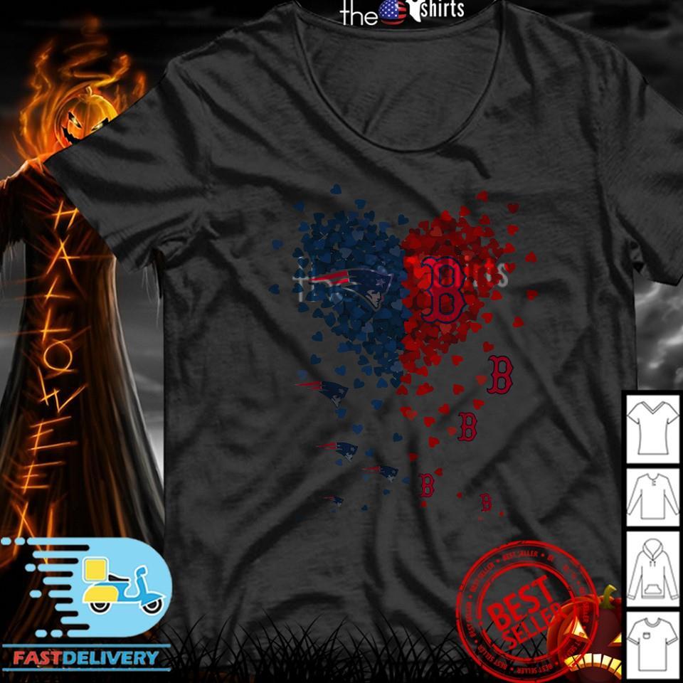 Hot New England Patriots Boston Red Sox inside my heart shirt