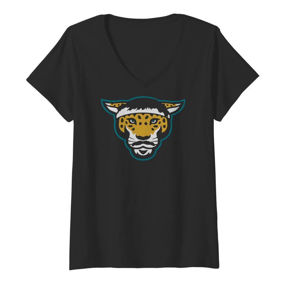 Jacksonville Jaguars Legend Logo V neck t shirt