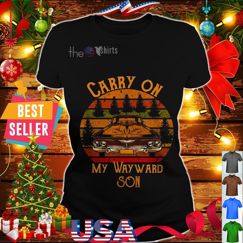 Carry On My Wayward Son Vintage Supernatural Ladies Tee