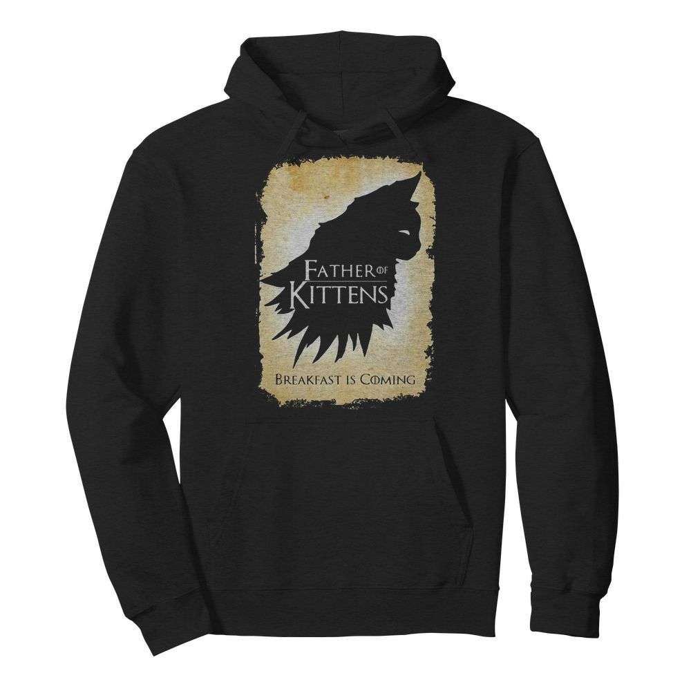 Cat Father Of Kittens Break Fast Is Coming Hoodie