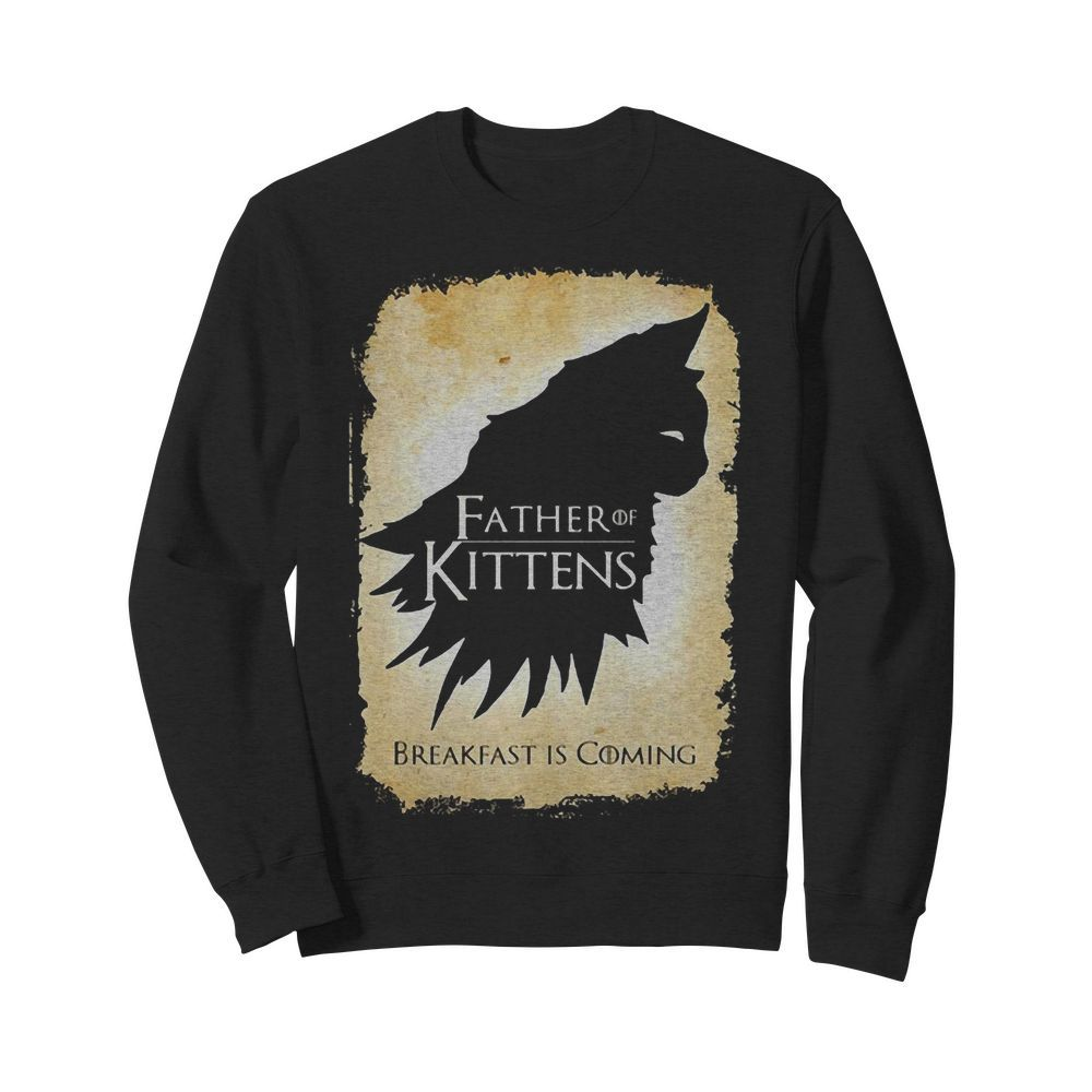 Cat Father Of Kittens Break Fast Is Coming Sweater