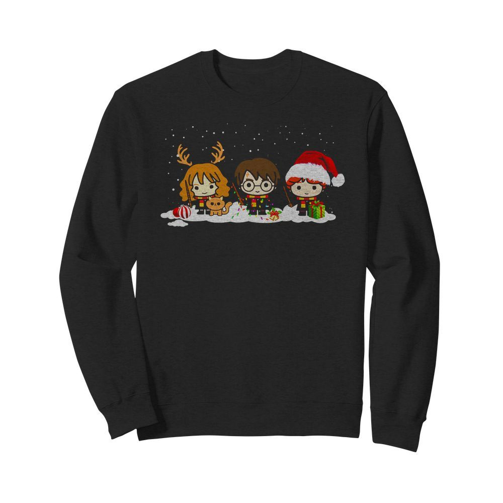 Harry Potter Hermione Ron Chibi Christmas Sweater