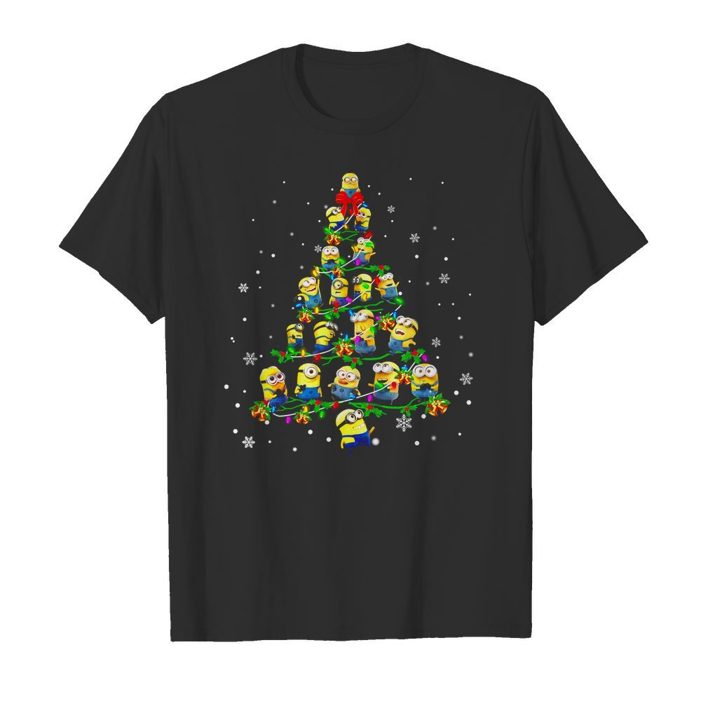 Minion Christmas Pine Wallpaper Shirt