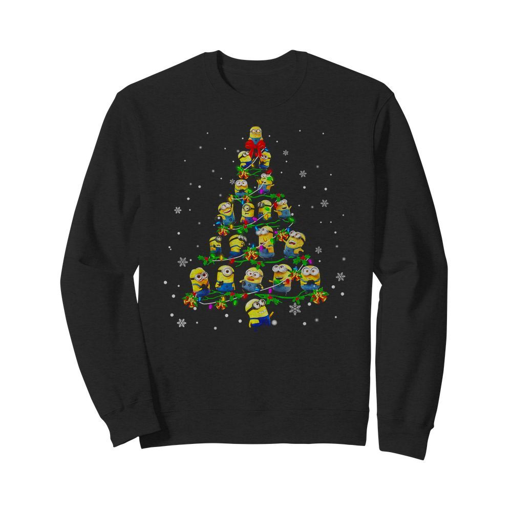 Minion Christmas Pine Wallpaper Sweater