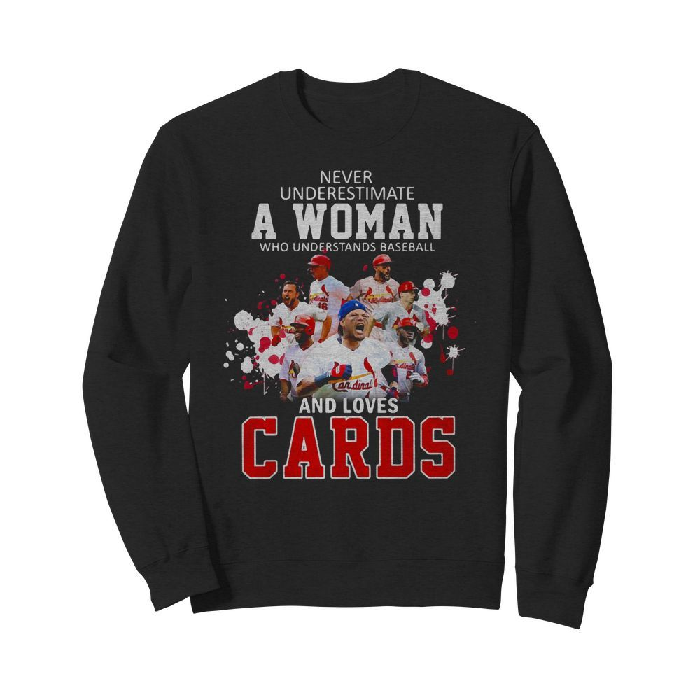 Never underestimate a woman who understands Baseball and loves Cards Sweater