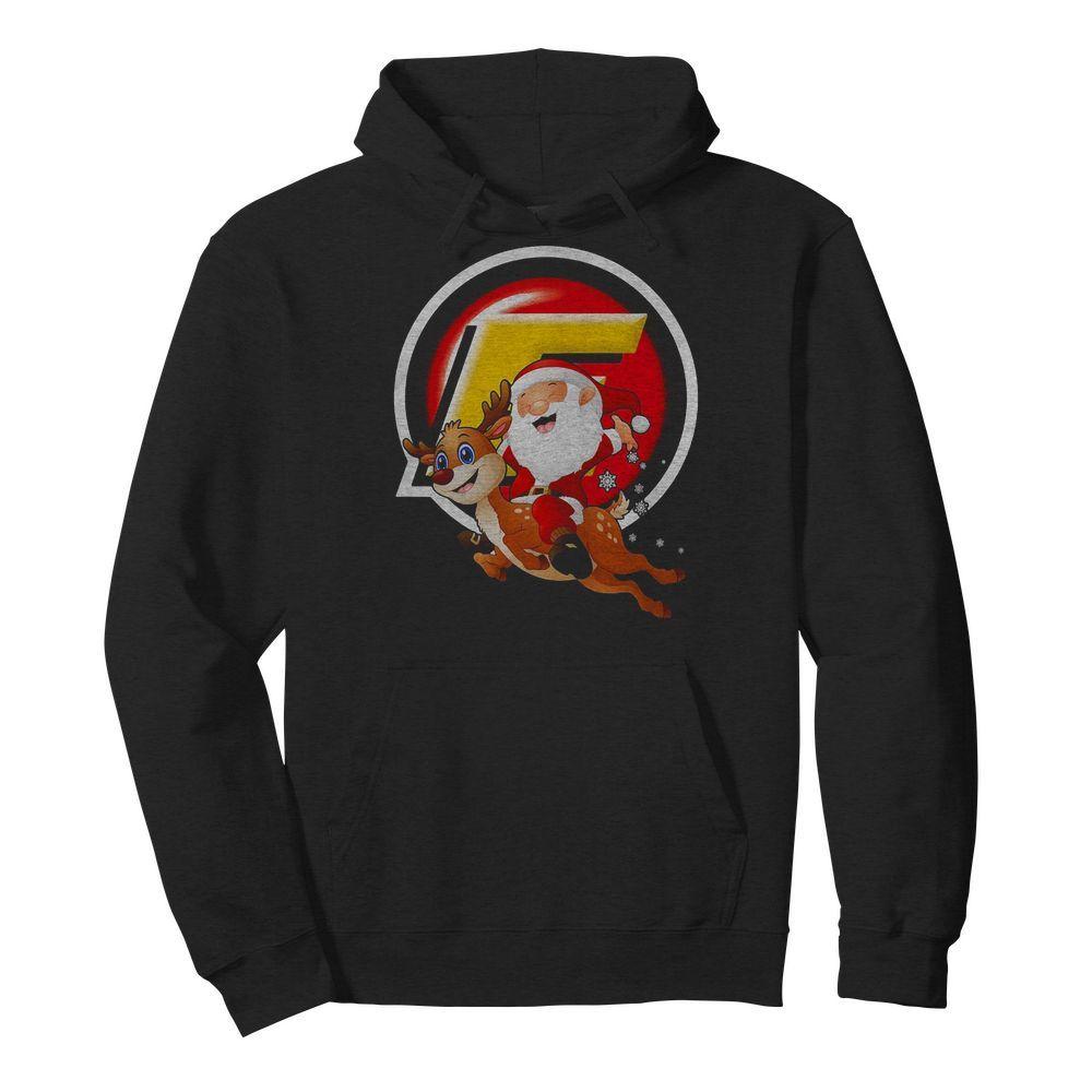 Official Santa Claus riding reindeer Hoodie
