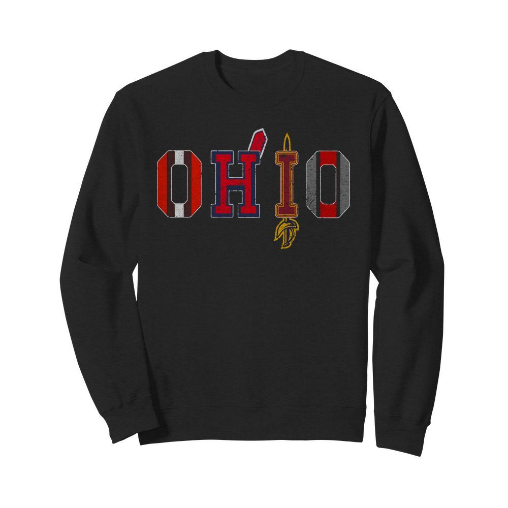 Ohio Teams Cleveland Browns Indians Cavaliers Ohio State Sweater