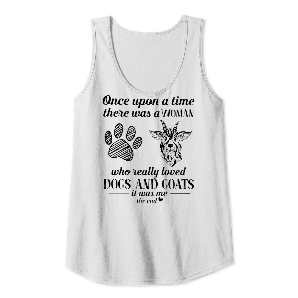 Once upon Girl who really loved Dog and goat T-Tank top