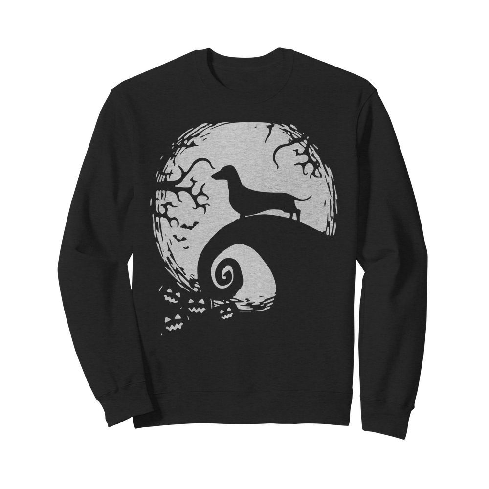 Premium Moon Dog Dachshund Finny Cute Hallwoeen Apparel Gift Sweater
