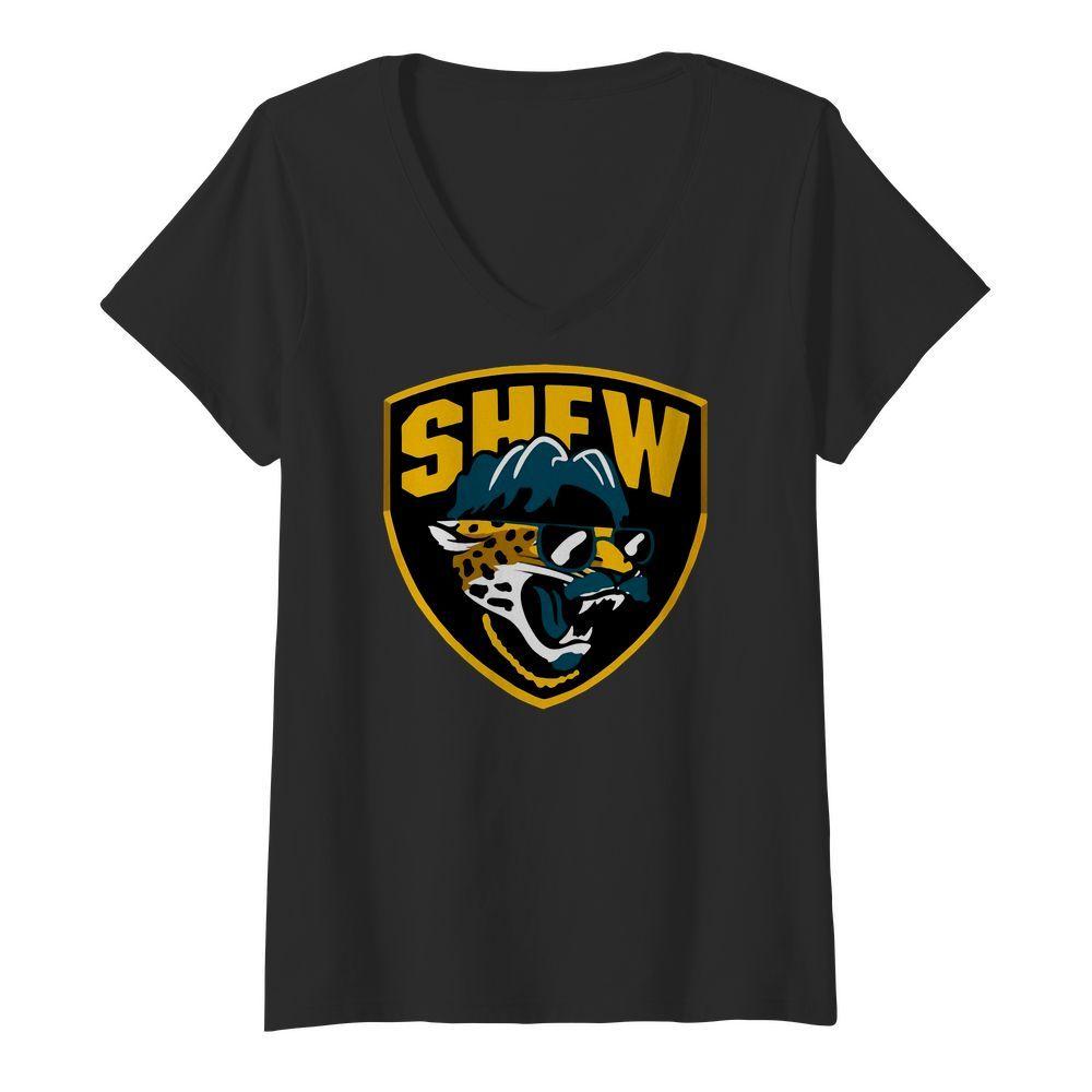 Shew Jacksonville Jaguars V neck t shirt