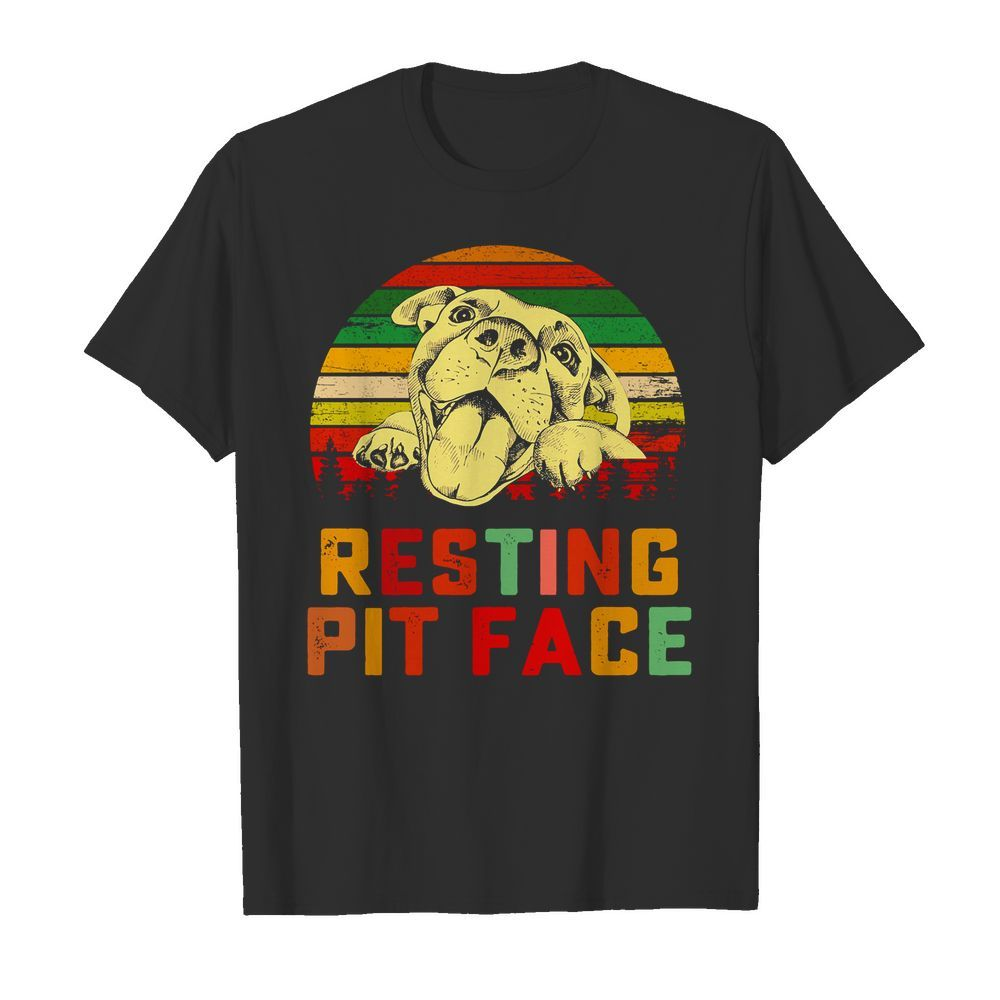 Trends Funny Dog Pitbull Resting Pit Face Shirt