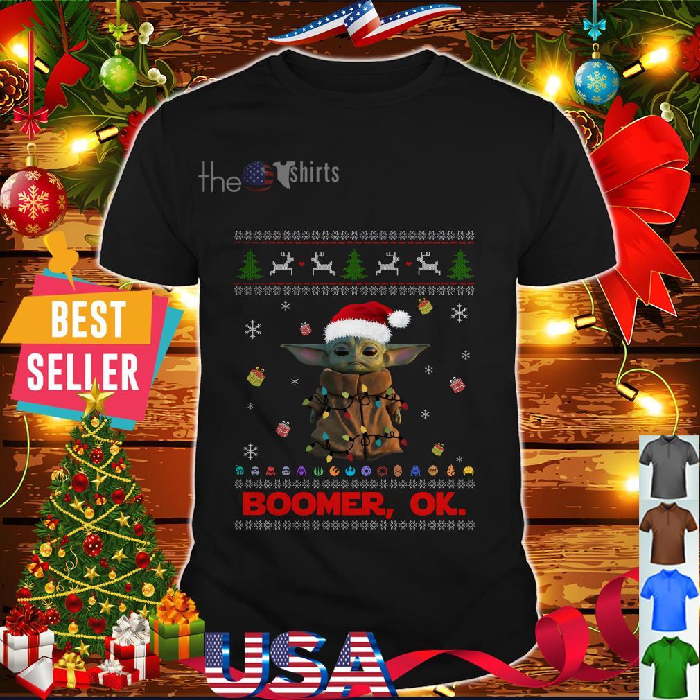 The Mandalorian Baby Yoda Santa Boomer Ok Christmas shirt ...