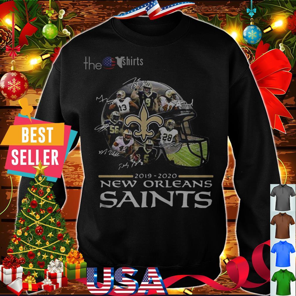 2019 2020 New Orleans Saints signatures shirt