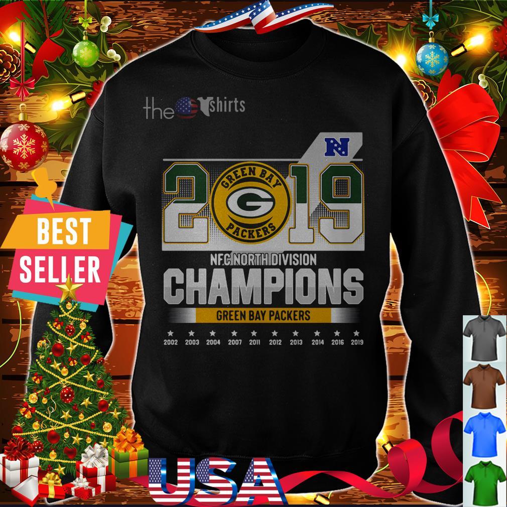 2019 Green Bay Packers NFC North Division Champions 2002 2019 shirt