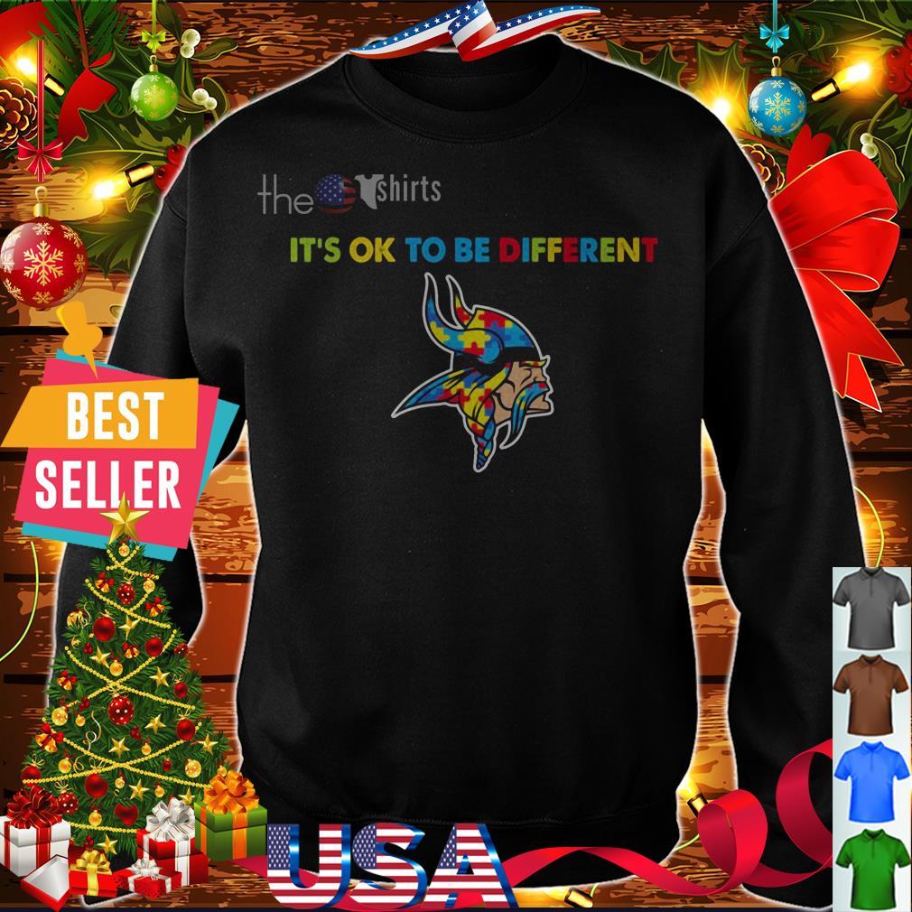 Autism Minnesota Vikings it's ok to be different shirt