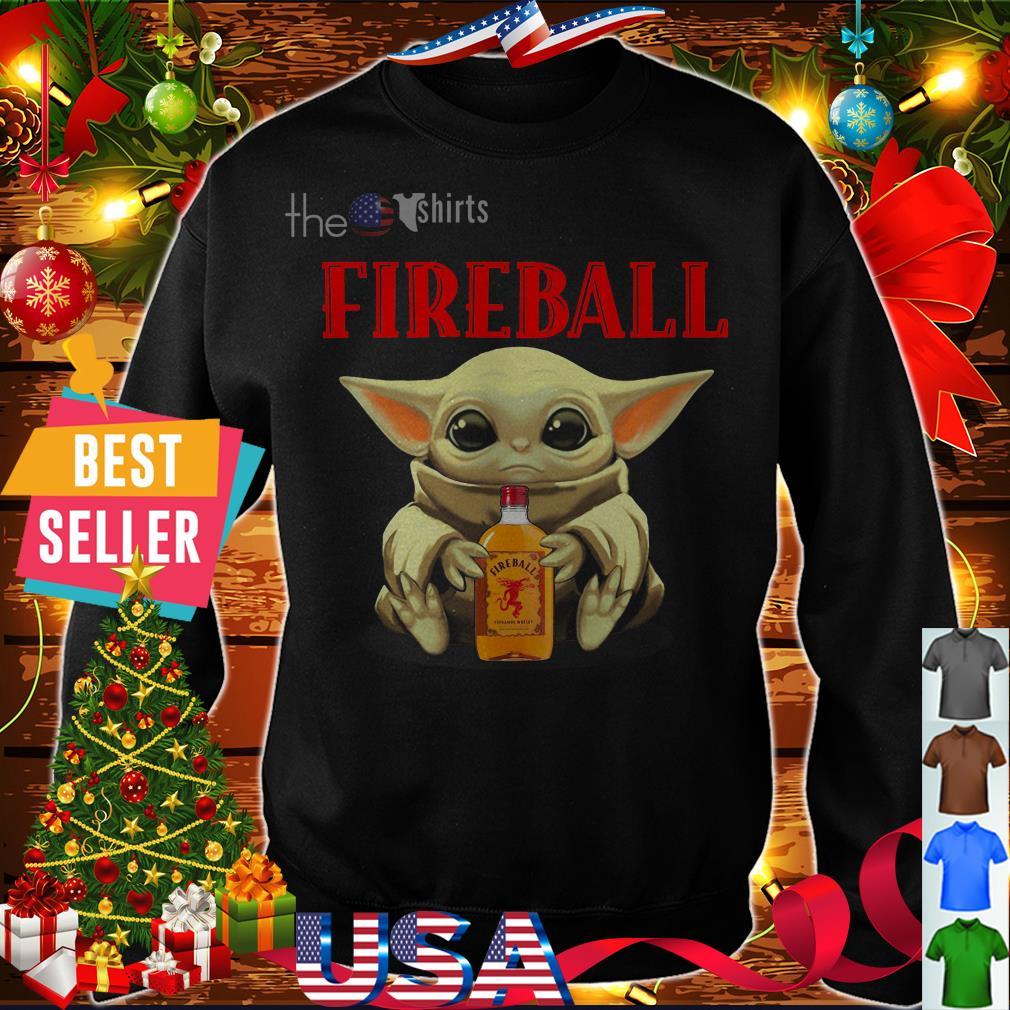Baby Yoda Fireball shirt