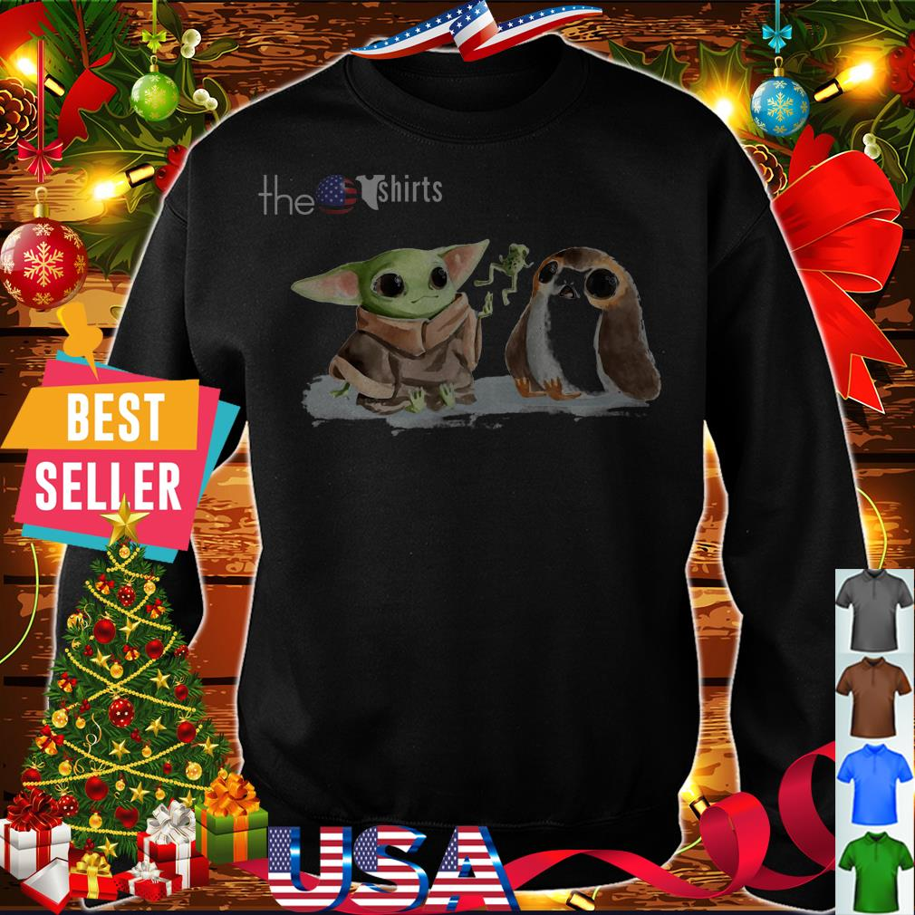 Baby Yoda and Sad Porg shirt