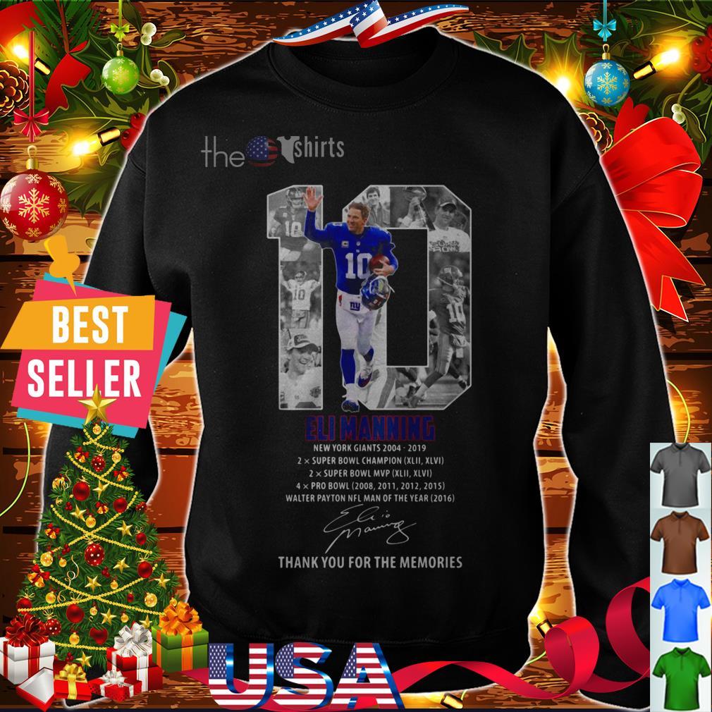 Eli manning 10 new york giants thank memories signature shirt