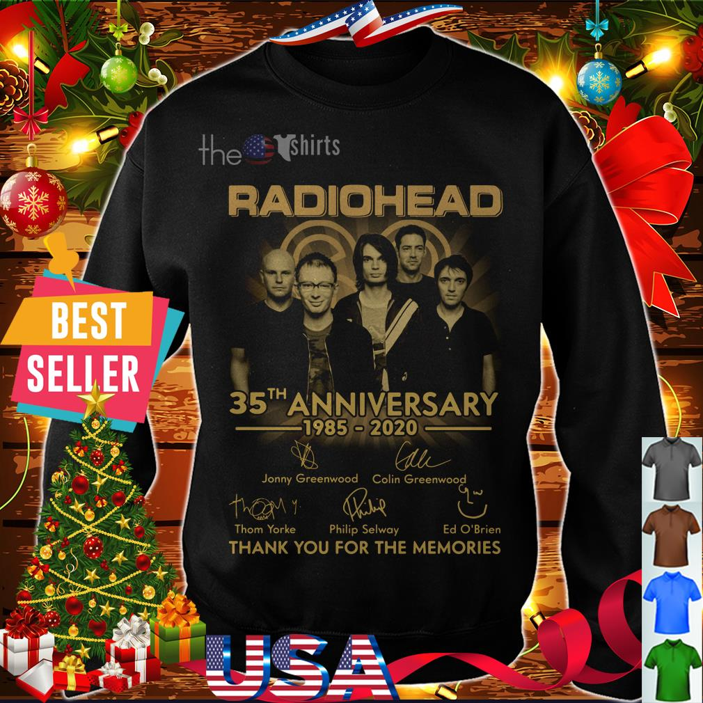 Radiohead 35th anniversary 1985-2020 thank you for the memories shirt