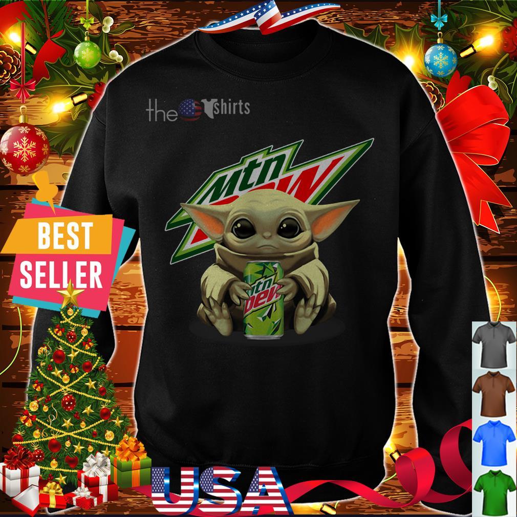 Yoda hug Mtn Dew shirt