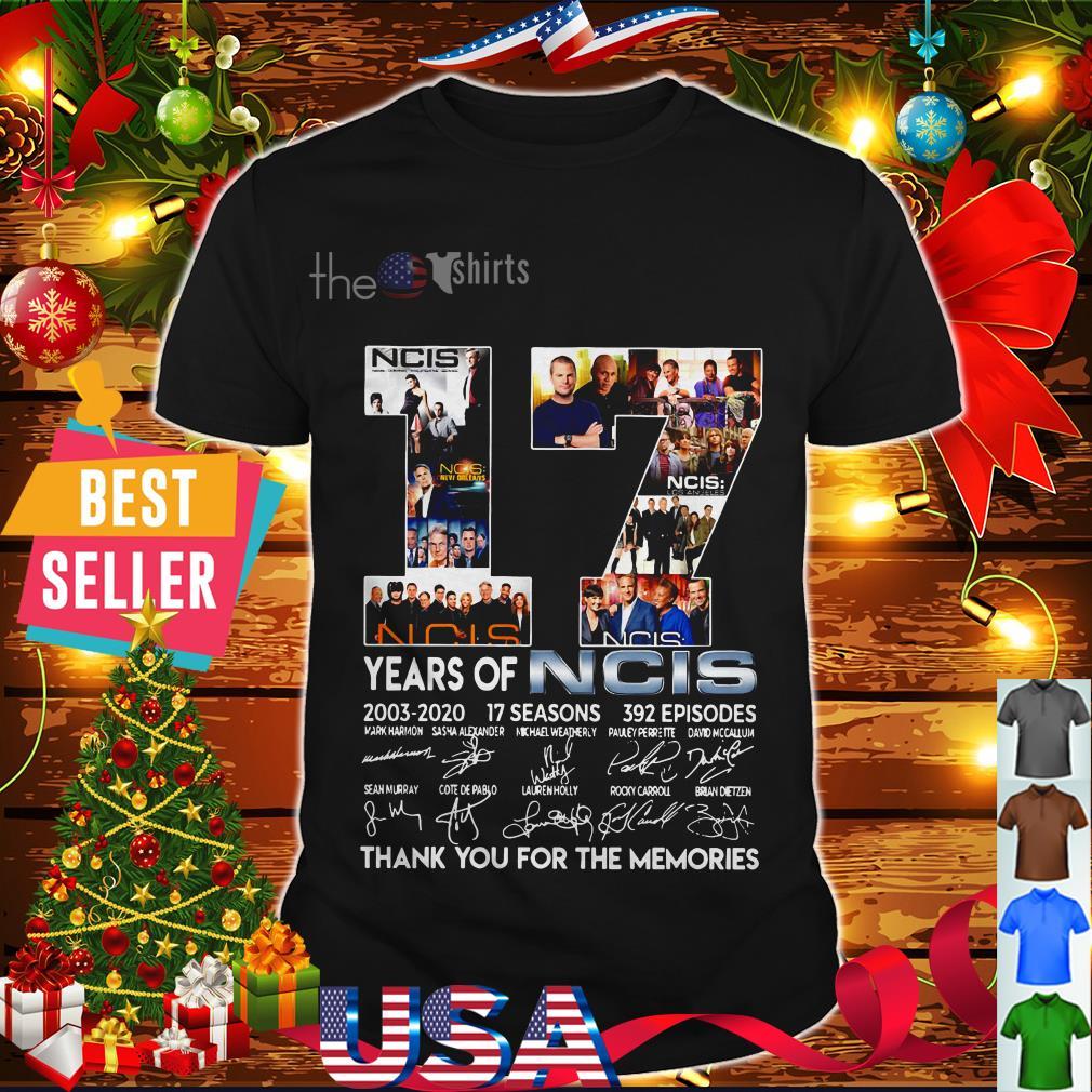 Ncis Christmas 2020 17 years of Ncis 2003 2020 17 seasons 392 episodes thank you for shirt