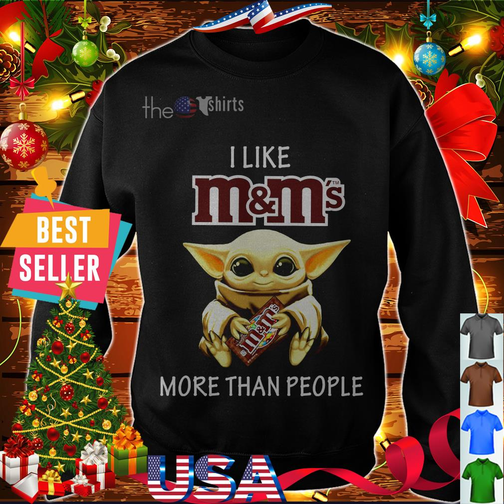Baby Yoda I like M&M more than people shirt