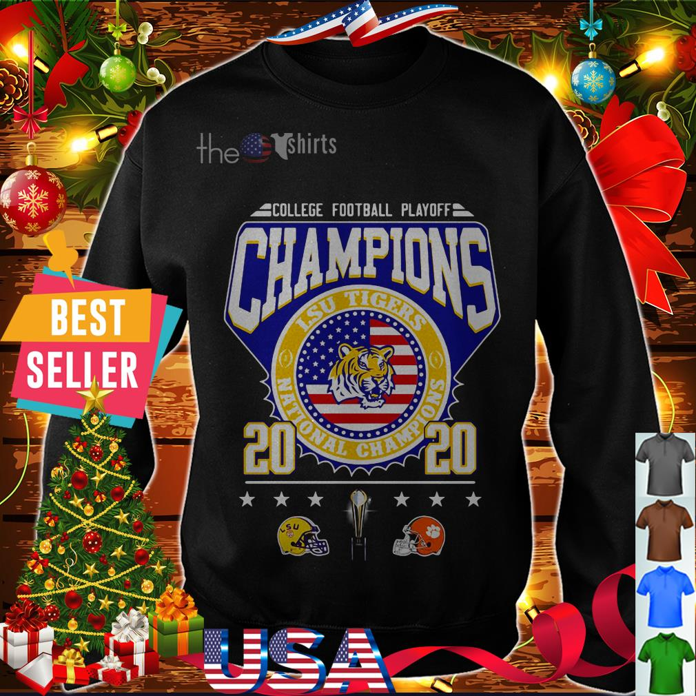 College football playoff Champions LSU Tigers 2020 shirt