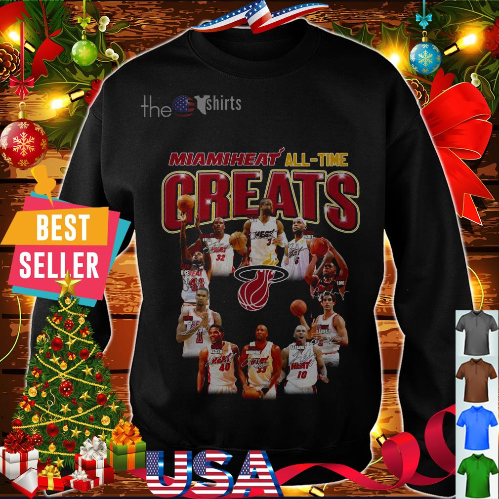 Miami Heat' all time greats signatures shirt