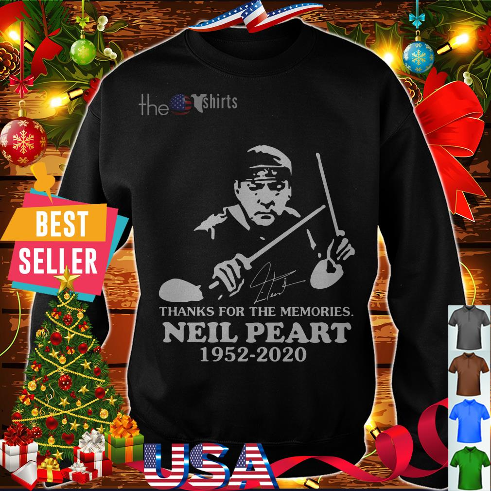 Thanks for the memories Neil Peart 1952 2020 signature shirt