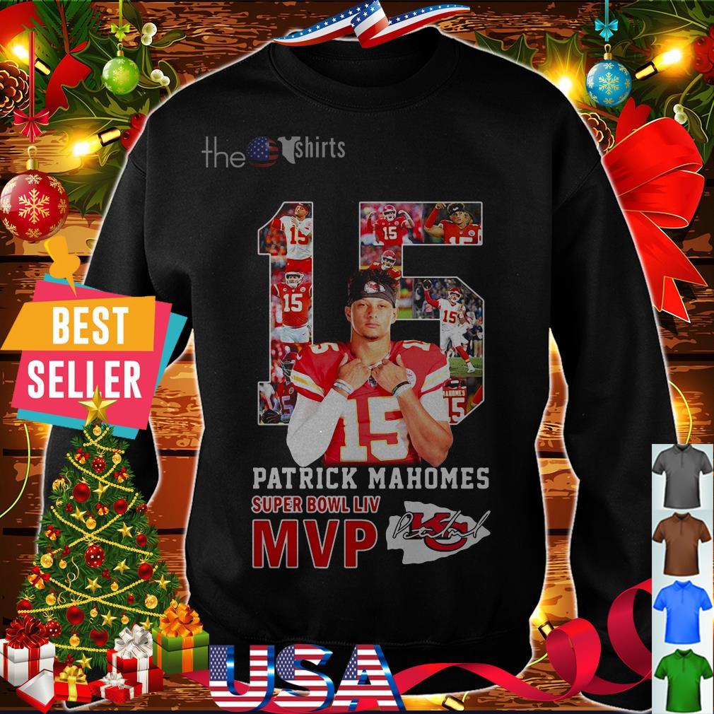 #15 Patrick Mahomes super bowl LIV MVP shirt