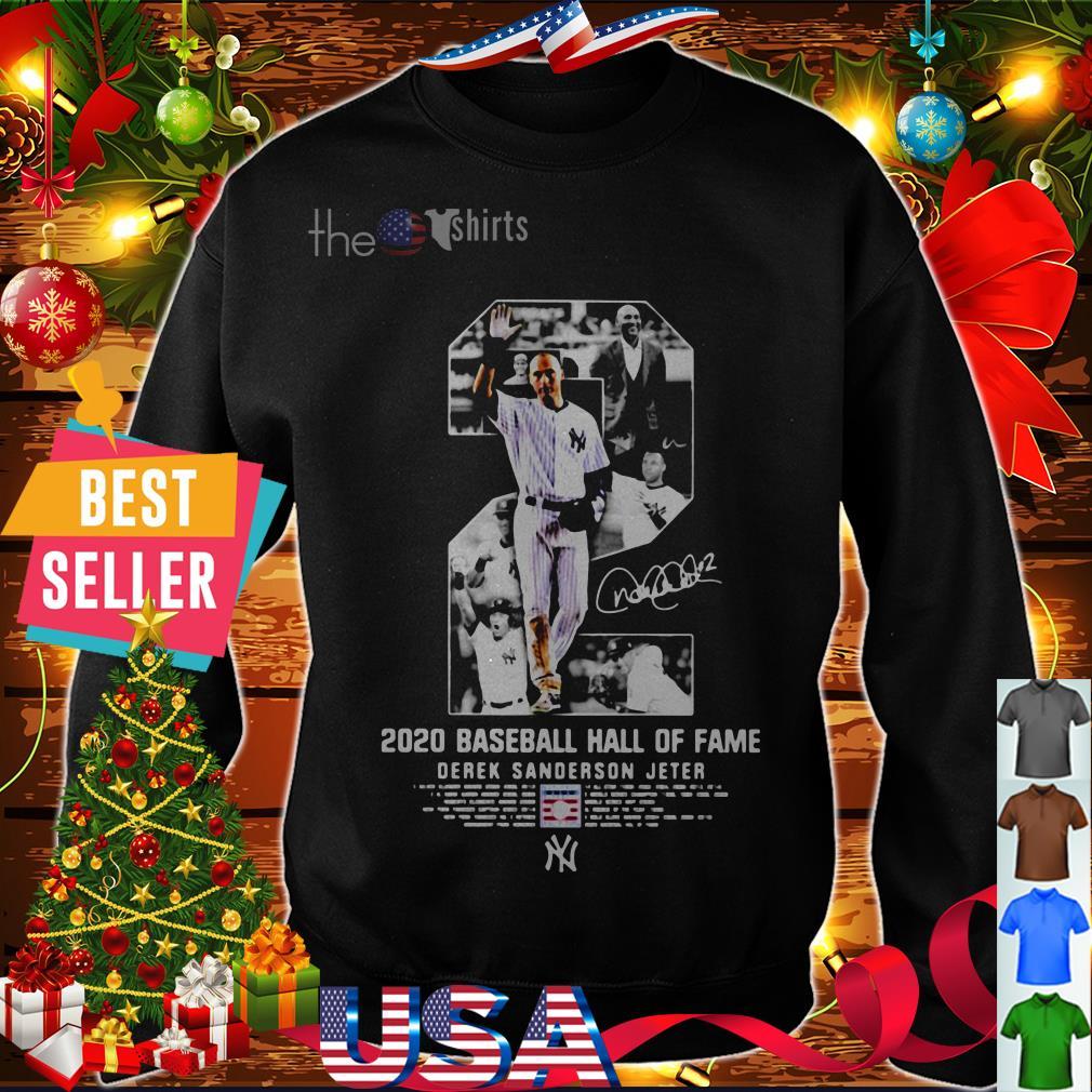 2020 baseball hall of fame Derek Sanderson Jeter shirt
