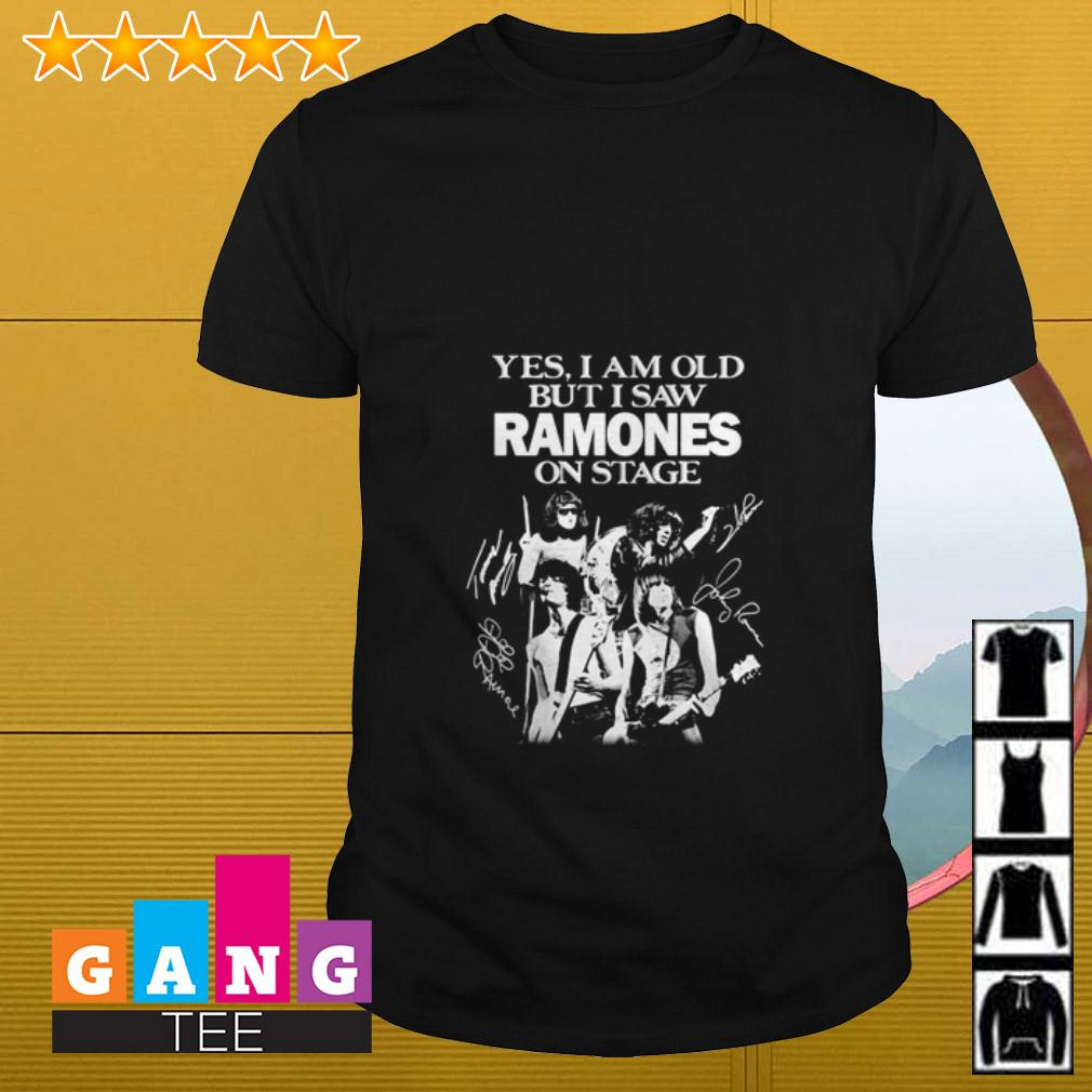 Yes I am old but I saw Ramones on stage signature shirt