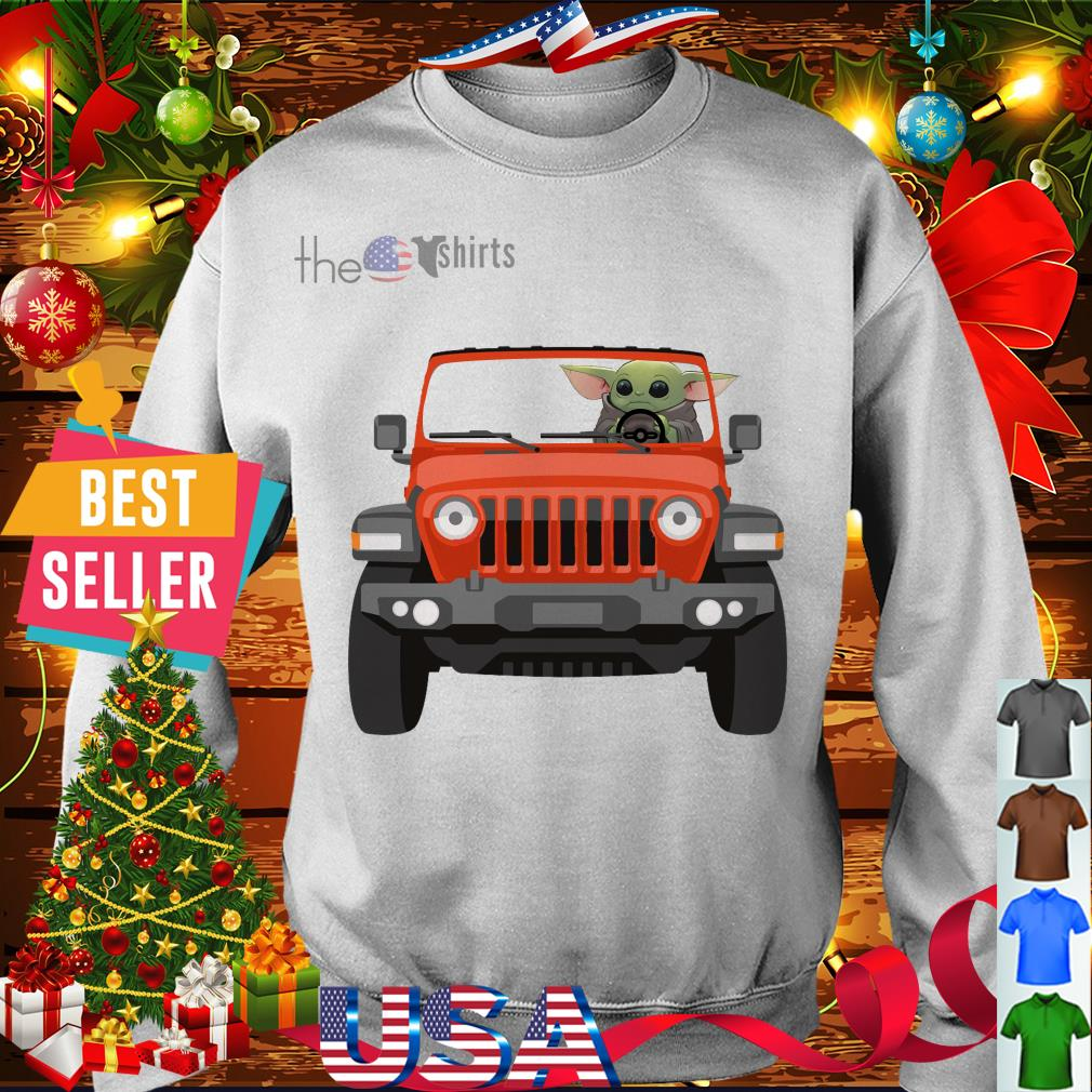 Baby Yoda driving Jeep shirt